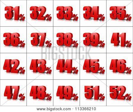 Percentage Numbers Series 3