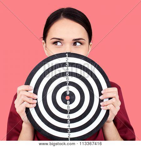 Marketing Target Bull's-Eye Women Conformity Business Success Firing poster