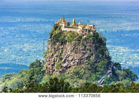 Mt. Popa, Mandalay Division, Myanmar.