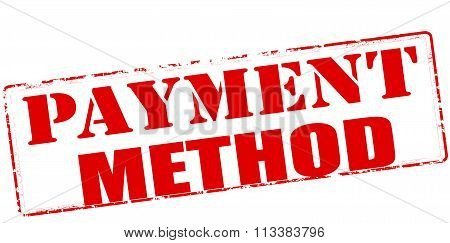 Rubber stamp with text payment method inside vector illustration