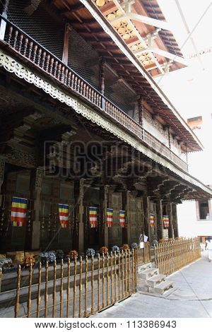 Temple of the tooth in Kandy Sri Lanka
