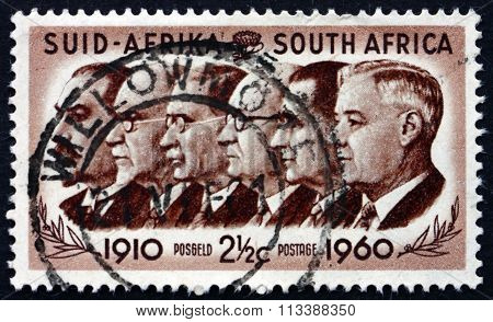 Postage Stamp South Africa 1960 Prime Ministers
