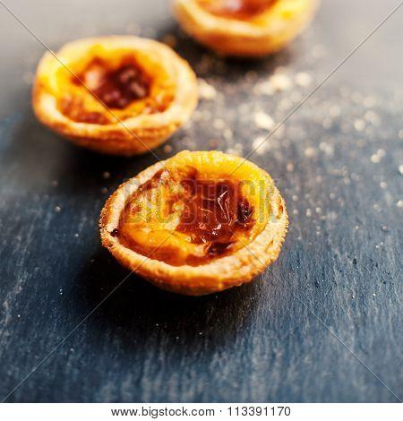 Pasteis De Belem Or Nata, Portuguese Cake..