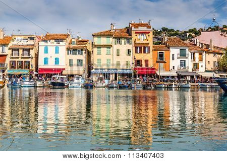 Colorful Buildings In City Center-cassis,france