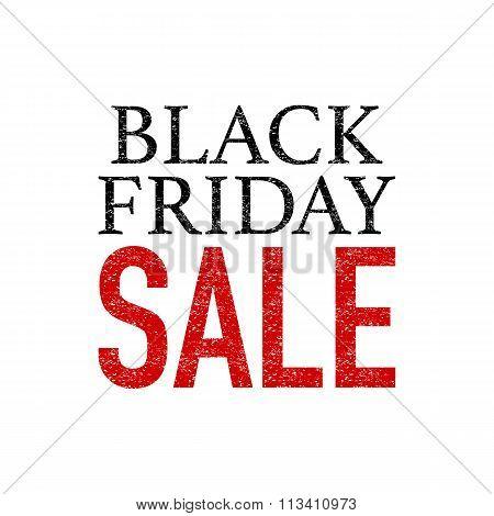 Stock Vector Grunge Black Friday