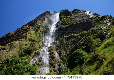 Big waterfall on the Manaslu-Trek