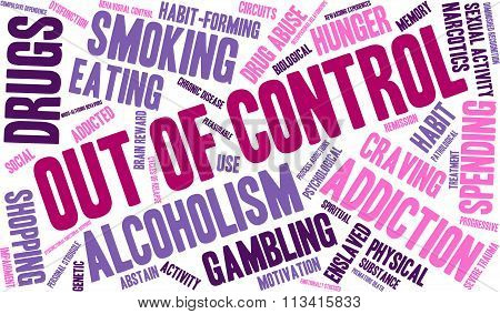 Out Of Control Word Cloud