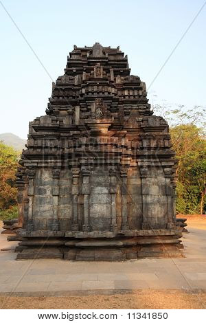 Front View Of Mahadev Temple In Goa