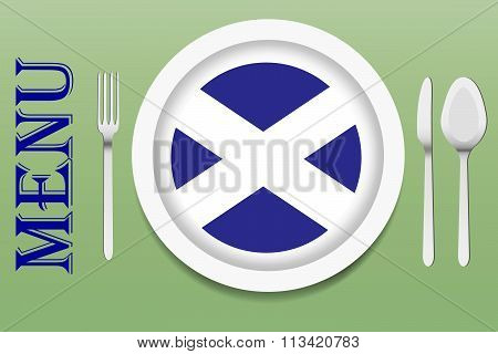 Ready for serving Scottish cuisine vector