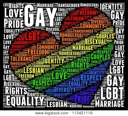 Gay rights concept word cloud