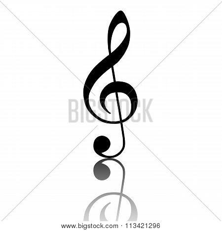 Violin clef icon
