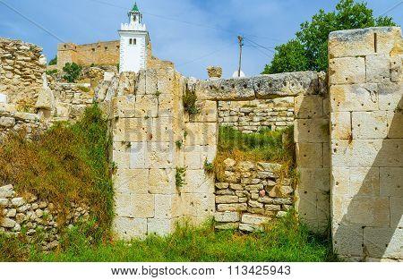 The Antique Ruins In El Kef