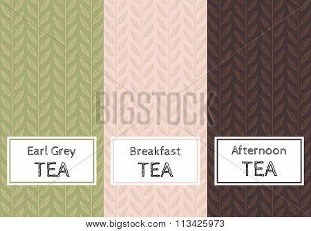 Vector set of templates packaging tea.