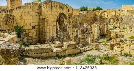 The Roman Baths Of El Kef