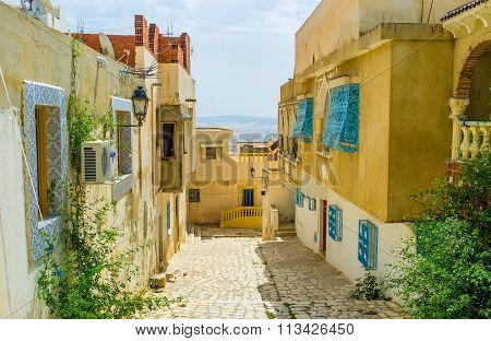 The Hilly Street Of El Kef