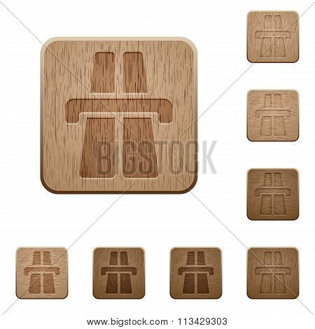 Highway Wooden Buttons
