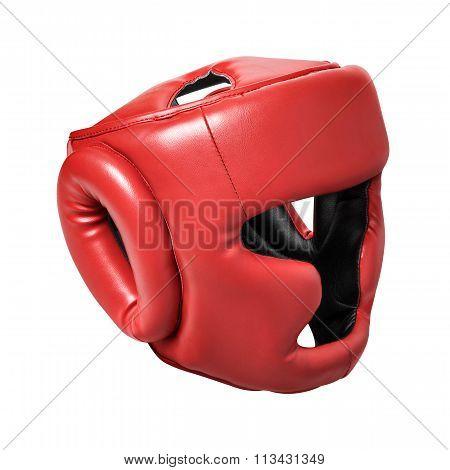 Red helmet for boxing