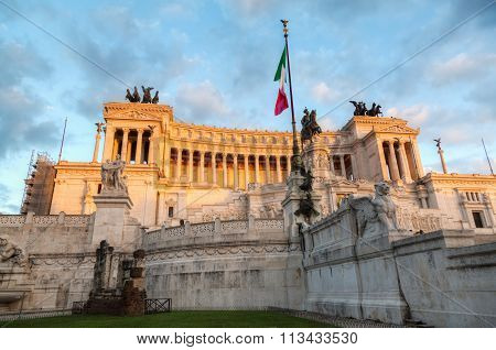 National Monument to Victor Emmanuel II named Il Vittoriano is a controversial monument built in honour of Victor Emmanuel, the first king of an unified Italy, located in Rome