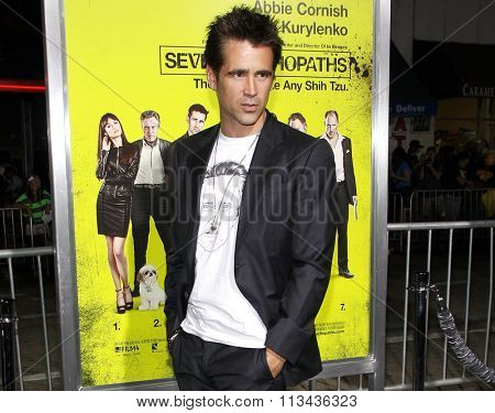Colin Farrell at the Los Angeles premiere of