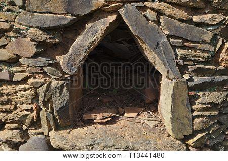 Forgotten antique stone oven