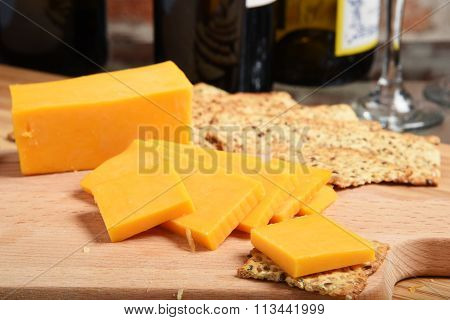 Cheddar Cheese And Wine