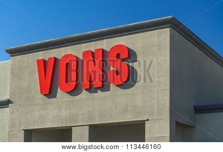 Vons Grocery Store Sign And Logo.