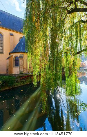 river Alzette in the Grund district of Luxembourg City