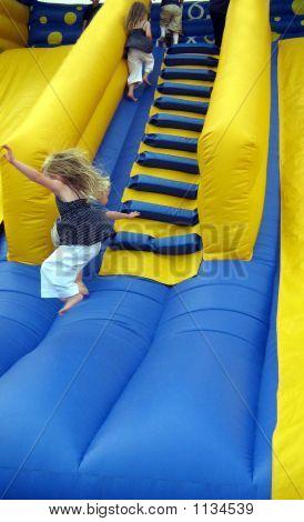 Child/ Girl Playing/ Jumping