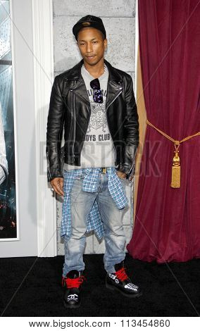 WESTWOOD, CALIFORNIA - December 6, 2011. Pharrell Williams at the Los Angeles premiere of