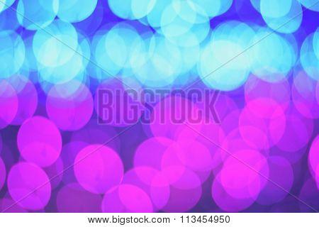 Defocused Bokeh Blue Pink