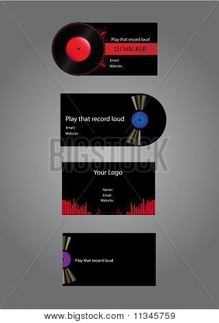 Dj Business Cards