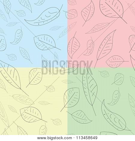 Seamless pattern leaves