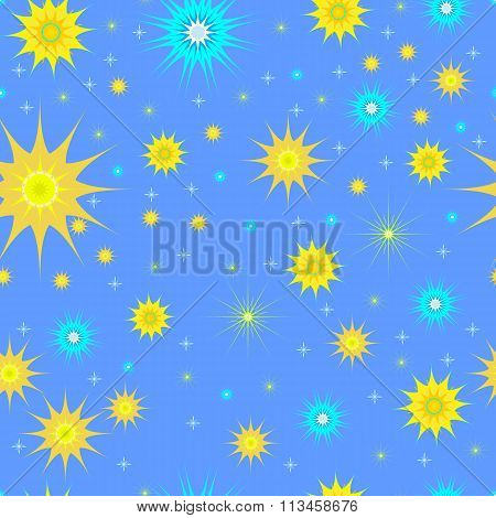 Seamless pattern stars