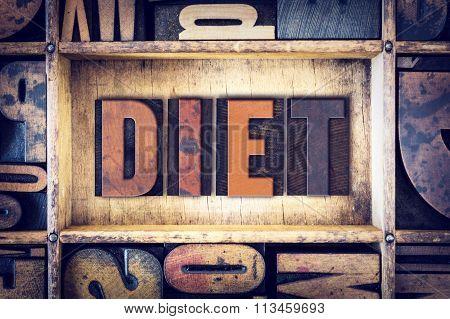 Diet Concept Letterpress Type