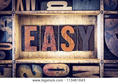 Easy Concept Letterpress Type