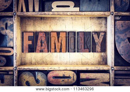 Family Concept Letterpress Type