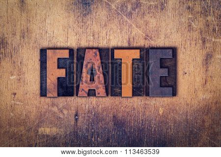 Fate Concept Wooden Letterpress Type