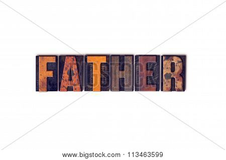 Father Concept Isolated Letterpress Type