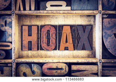 Hoax Concept Letterpress Type