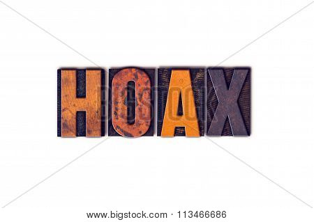 Hoax Concept Isolated Letterpress Type