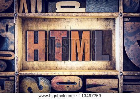 Html Concept Letterpress Type