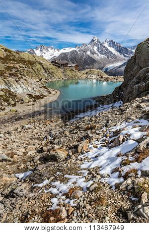 Lac Blanc,lac Blanc Refuge,mountain Range- France