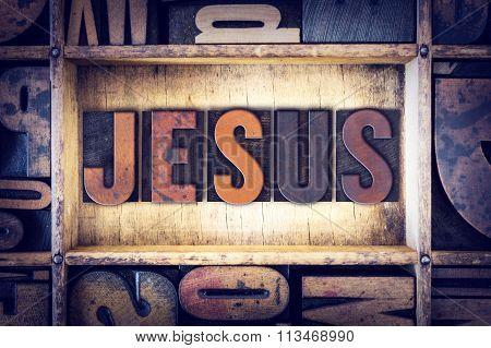 Jesus Concept Letterpress Type