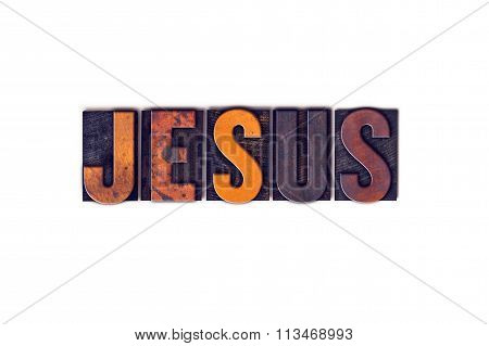 Jesus Concept Isolated Letterpress Type