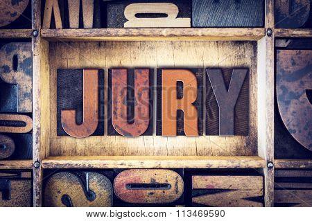 Jury Concept Letterpress Type