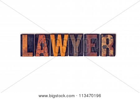 Lawyer Concept Isolated Letterpress Type