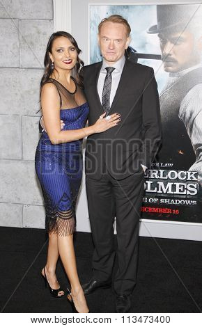 Jared Harris and Allegra Riggio at the Los Angeles Premiere of