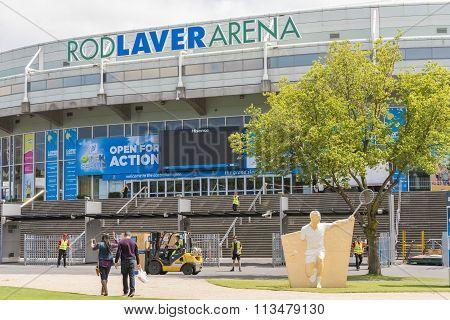 Preparing the Rod Laver Arena for Australian Open