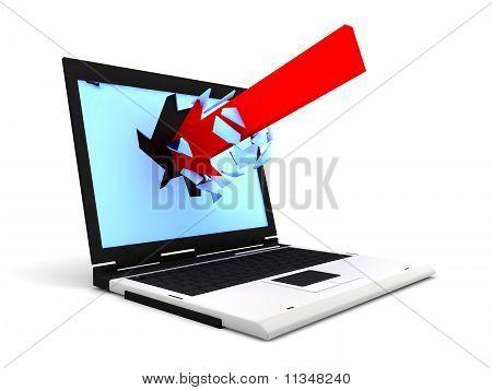 Arrow Enter By A Laptop
