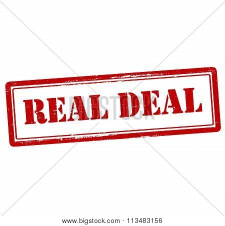 Rubber stamp with text real deal inside vector illustration